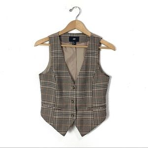 H&M plaid retro vest 8